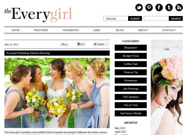 The Everygirl Wedding Feature